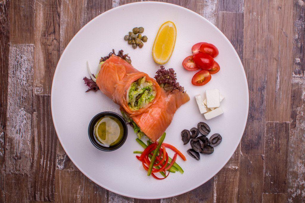Smoked Salmon & Feta Salad